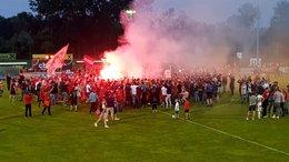 Fußball- Spektakel im Stadion Wildon...