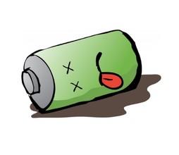 Batterie leer